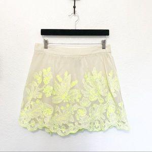Anthropologie Vanessa Virginia Neon Tulle Skirt 10